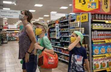 UK shoppers return to supermarkets as Covid lockdown eases
